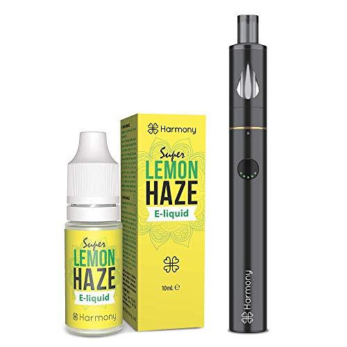 Harmony Starter Pack - E-líquido de CBD (más de 99% pureza) - Terpenos de Super Lemon Haze - 100 mg CBD en 10 ml - Harmony JempPen - Sin Nicotina