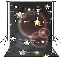 HD背景5x7ftの光沢のある星の写真撮影の背景スタジオ写真の装飾小道具XCFU177