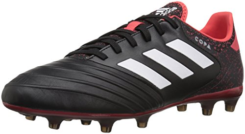 adidas Men's Copa 18.2 FG Soccer Shoe, Black/White/Real Coral, 12 M US