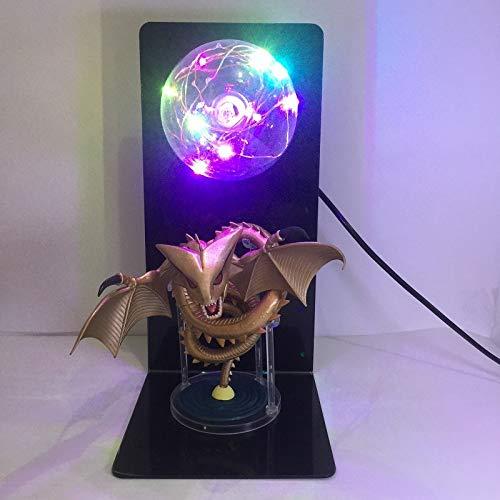 RUIXIANG Animatie Zeven Draak Kralen Super God Draak Handgemaakte Creatieve Led Tafellamp Oog Lamp Gloed Ingenay Speelgoed Gouden Draak