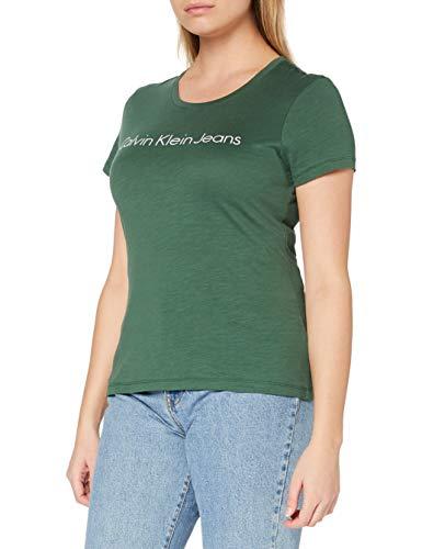 Calvin Klein Jeans Damen Trekking Green T-Shirt, grün, Large
