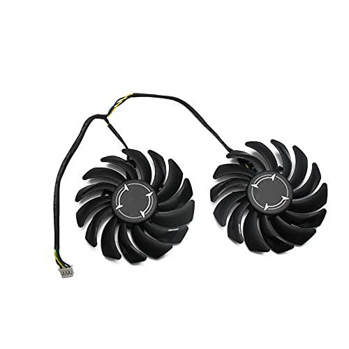 2pcs / Lot 4pin pld09210s12hh RX 470 480 570 570 580 Fan del refrigerador para AMD para MSI RX470 RX480 RX570 RX580 Armor DE LA Carra DE Video