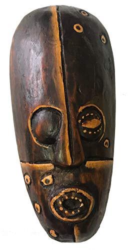 Woru Máscara Pintada, 20 cm, máscara de Madera de Bali, máscara de Pared Motivo: Pirata