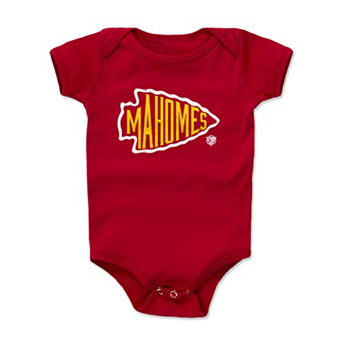 1UP Sports Marketing Patrick Mahomes Baby Clothes, Onesie, Creeper, Bodysuit (Onesie, 3-6 Months, Red) - Patrick Mahomes Arrowhead WHT