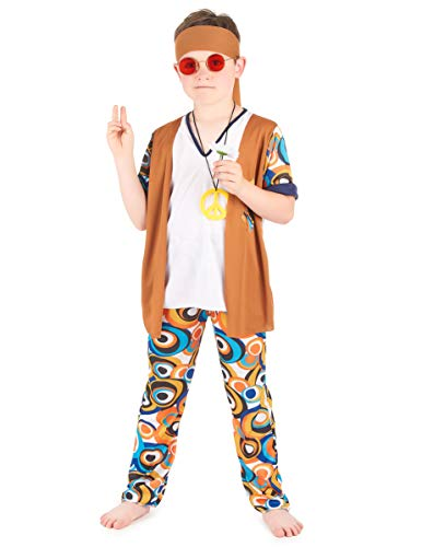 Disfraz hippie niño 10-12 años (140/152)