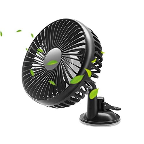 GvvcH Ventola USB per Auto 3 velocità del Vento Regolabili 360° Dispositivo di Raffreddamento dell'Aria per Auto Multifunzione per Home Office Dell'auto Accessori per Auto