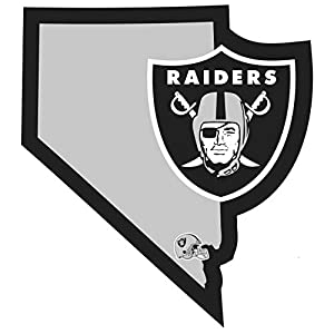 NFL Siskiyou Sports Fan Shop Las Vegas Raiders Home State Decal One Size Team Color by Siskiyou Gifts Co, Inc.