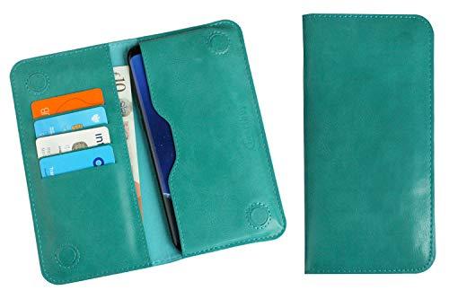 Emartbuy Turchese qualità PU Pelle Portafoglio Sottile Magnetico Custodia Case Cover Sleeve (Size D) Compatibile con Smartphone Elencati sotto