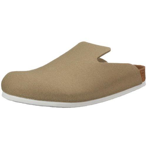 Birkenstock Davos 142221, Unisex - Erwachsene Clogs & Pantoletten aus Wolle, Grau (Stone), EU 36 (normal)