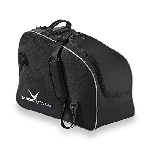 Black Crevice - Borsa per scarponi da sci e casco da sci, taglia unica, colore: Nero Argento