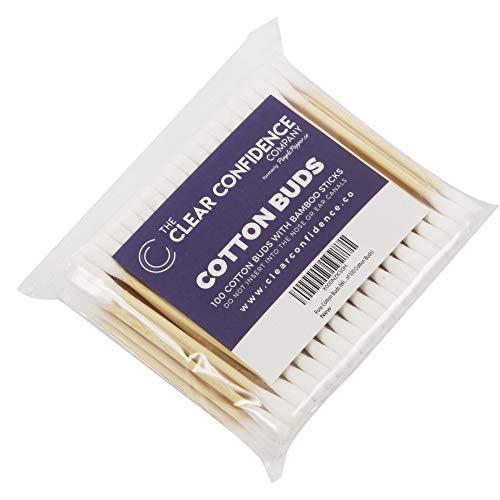 100% Pure Cotons-tiges (Avec Plastique Bâtons) - Argent, Pack de 2000 Bourgeons de coton