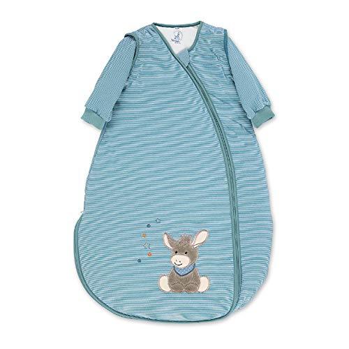Sterntaler Jersey-Schlafsack, Esel Emmi, Abnehmbare Ärmel, Wärmeregulierung, Reißverschluss, Größe: 110 cm, Hellblau