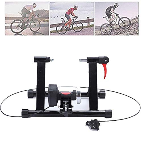DSHUJC 7-Speed Wire-Controlled Reluctance Riding Platform-Riding Training Platform-Bicycle Turbo Trainer Bicycle Trainer Exercise Fitness Fixed Frame