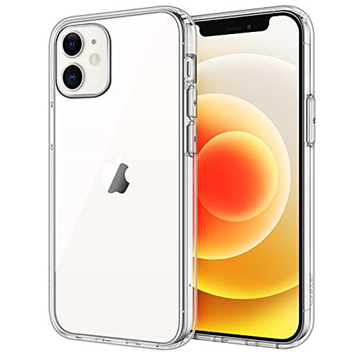 JETech Cover Compatibile iPhone 6,1 Pollici (12, 12 Pro), Custodia con Assorbimento degli Urti e Anti-Graffio, Trasparente HD Chiaro