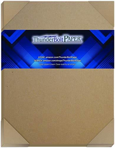 Natural Kraft Premium Cardboard Paper Chipboard Sheets 0.050 8.5 X 11 Pack of 12
