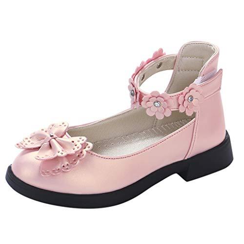 Cuteelf Kleinkind Kinder Kinder Baby Mädchen Blumen Bowknot Single Princess Schuhe Sandalen Kinder Mädchen Bogen Blume kleine Lederschuhe Prinzessin Schuhe einzelne Schuhe Sandalen