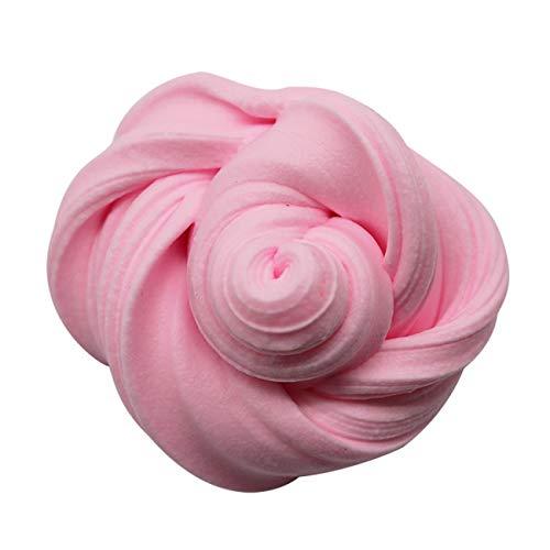fengzong DIY einfarbig 3D Flauschigen Schaum Ton Schleim DIY weiche Baumwolle Schleim Ball Kit Kinder pädagogische Handwerk Spielzeug Antistress Kinderspielzeug (rosa)