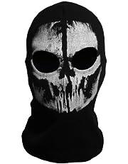 CoolChange stormmasker bivakmuts doodsschedel met 2 openingen voor de ogen zwart Call of Duty