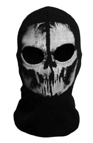 CoolChange Sturmmaske Sturmhaube Totenschädel mit 2 Öffnungen für die Augen Schwarz Call of Duty