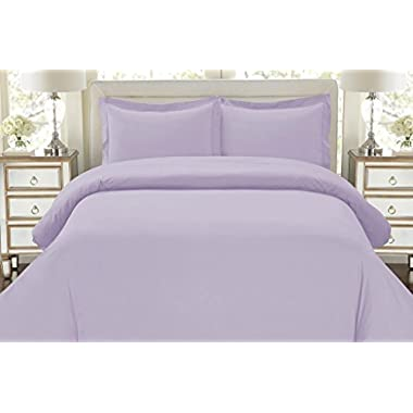 Hotel Luxury 3pc Duvet Cover Set-ON SALE TODAY-1500 Thread Count Egyptian Quality Ultra Silky Soft Top Quality Premium Bedding Collection, 100% -Queen Size Lavender