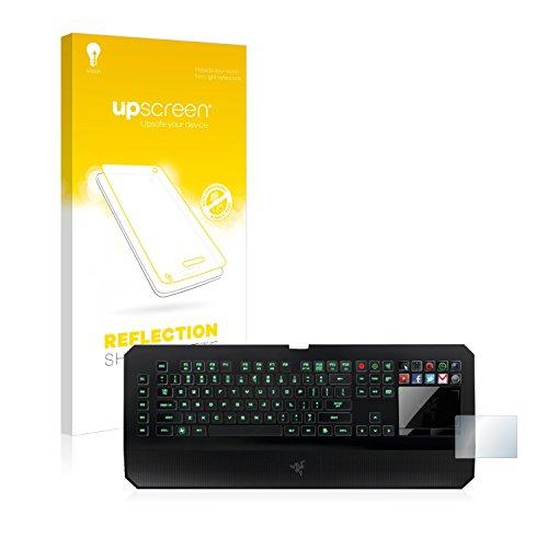 upscreen Entspiegelungs-Schutzfolie kompatibel mit Razer Deathstalker Ultimate – Anti-Reflex Displayschutz-Folie Matt