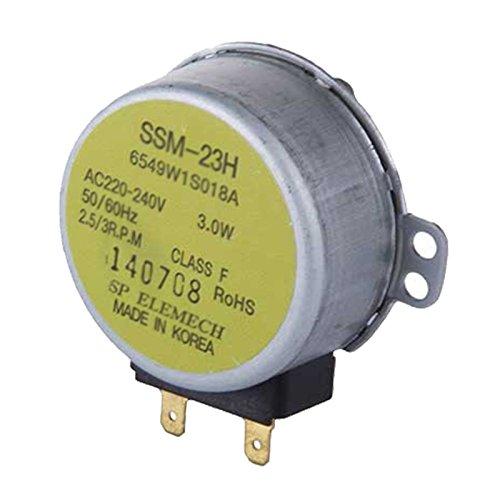 Spares2go SSM-23H tipo cristal Tocadiscos placa Motor (3.0W) para LG horno de microondas