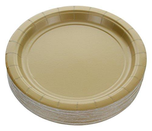 TITLE_Amcrate Gold Dessert Paper Plates