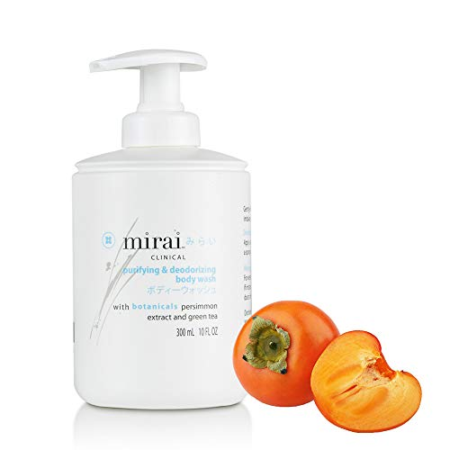 Mirai Clinical Purifying and Deodorizing Body Wash with Persimmon and Green Tea Extracts for Men and Women 300ml