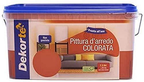 GDM-Pintura de decoración de colores, hidropintura supercubriente Dekorté, color burdeos, 2,5 litros
