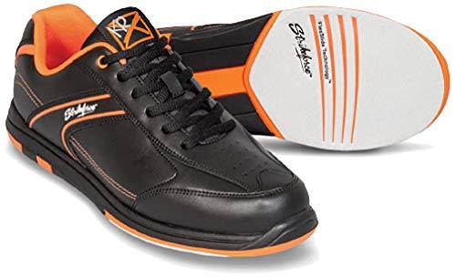 EMAX KR Strikeforce Flyer Bowling-Schuhe Damen und Herren, für Rechts- und Linkshänder in 4 Farben Schuhgröße 38-48 wahlweise mit Schuh-Deo Titania Foot Care (Orange ohne Spray, US 11 (43,5))