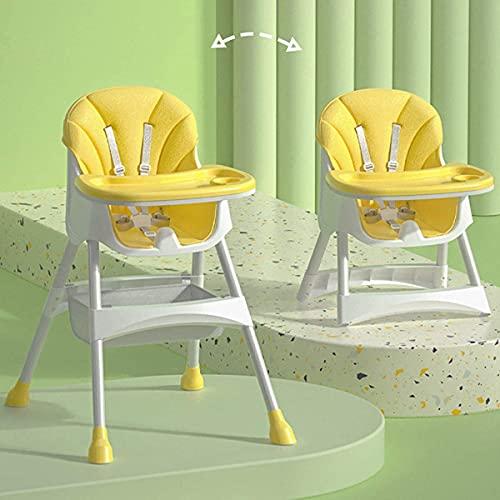 ベビーチェア ローチェア 赤ちゃん用 お食事椅子 高さ調節可能多機能 子供イス 離乳食 お食事に便利な テーブルチェア ポータブルカバー 北欧風 6か月~4歳 (Yellow)