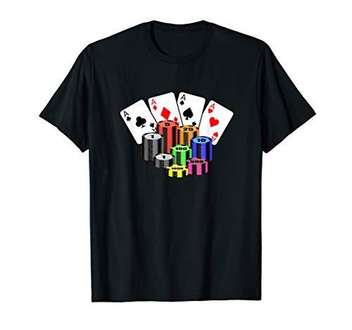 Pokerkarten & Pokerchips - Poker Spieler Geschenkidee T-Shirt