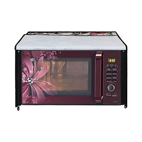 Glassiano Floral and Multi Printed Microwave Oven Cover for IFB 30 Litre Convection Microwave Oven 30SC4 Metallic Silver