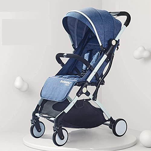 ZCZZ Passeggino 360 Funzione di Rotazione, Passeggino Carrozzina Hot Mom (Colore : Blu)