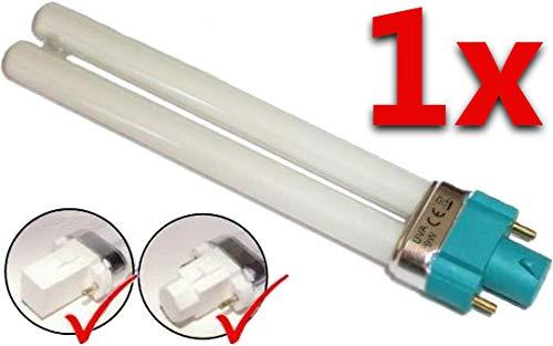 1 universele UVA-buis 9 watt voor UV-lichthardingsapparaat 4-kant en 8-kantige sokkel: Voor 2-pins systeem (behalve apparaten met desinfectiefunctie)
