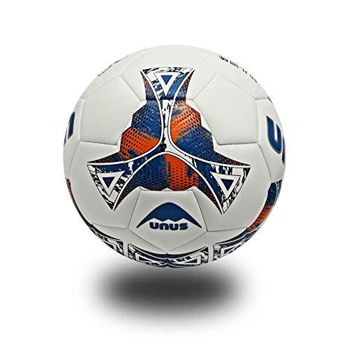SIZHINIAN Europa Torneo de Fútbol Formación Ball-PU Suave Toque del balón Naturaleza Tamaño 3,4, Azul, Ball 3 (para los niños)