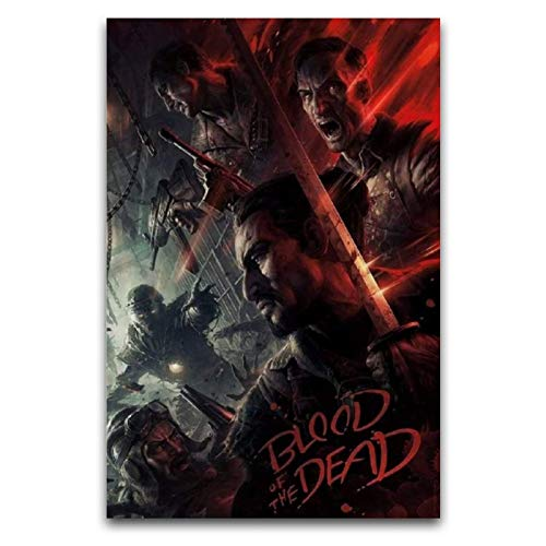 Call of Duty Black Ops 4 Blood of The Dead Zombies Poster Decorative Painting Canvas Wall Art Living Room Posters Bedroom Painting 16'×24'(40*60cm)