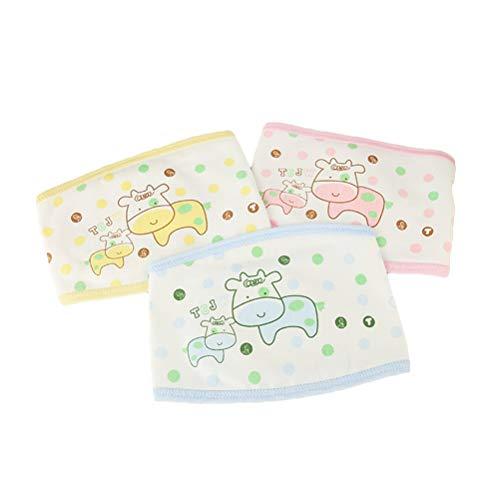 HEALIFTY nouveau-né ventre bande bébé ventre bande ceinture ombilicale infantile ceinture de protection du nombril 3 PCS (motif aléatoire et couleur)