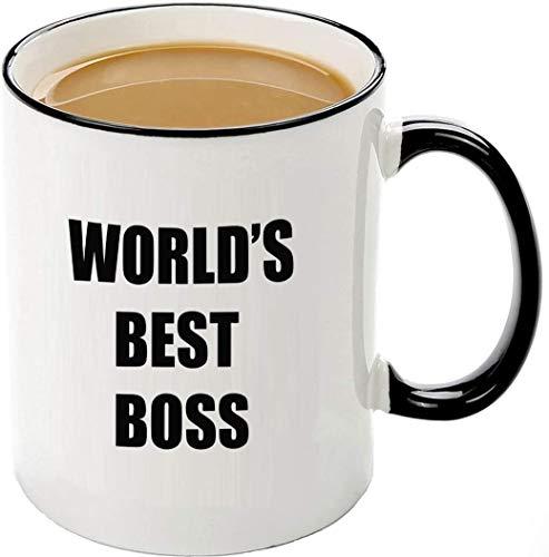 World's Best Boss Mug-11 OZ Ceramic Coffee Cup,Unique Bosses Day Christmas...