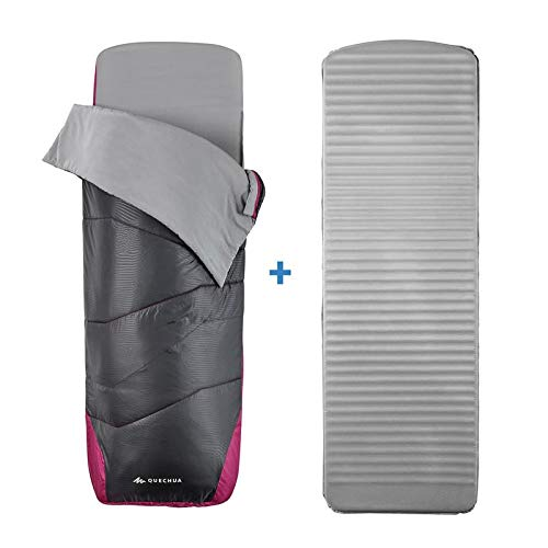 Forclaz 2 In 1 Schlafsack - Sleepin Bed Mh500 15 ° C L - Blue Carbon Gray Unique Size