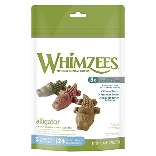 WHIMZEES Golosinas dentales para Perros sin Granos Naturales, tamaño pequeño, Bolsa de 24 🔥