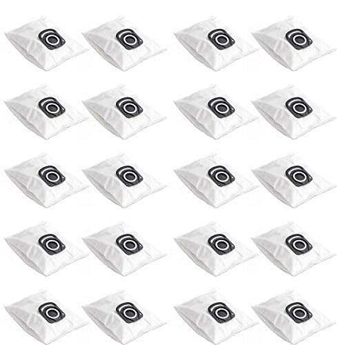 BIHARNT 20 Pack ZR200520 ZR200720 Vacuum Cleaner Bags Compatible with Rowenta Hygiene+ Silence Force,Compact Power, X-Trem Power (RO64xx, RO63xx, RO68xx, RO39xx) Vacuum Cleaner
