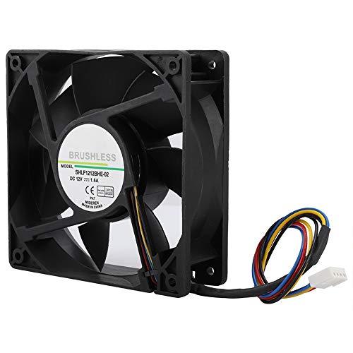 Ventilador de enfriamiento de 4000 RPM 12CM, fácil de Instalar y Usar, Ventilador de enfriamiento de DC12V, Fuerte disipación de Calor, hogar para Uso de Servidor, jardín, enfriamiento