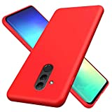 CRABOT Compatible con Huawei Mate 20 Lite Silicona Líquida Caso Cubierta de Goma Anti-caída Resistente a Los Arañazos Carcasa del Teléfono+1*(Protector de Pantalla Gratuito)-Rojo