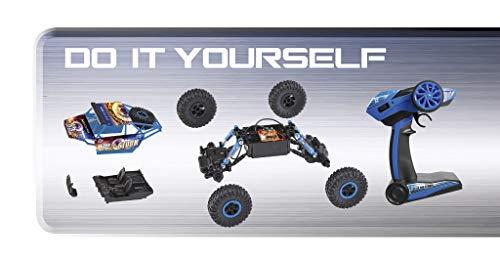 RC Crawler kaufen Crawler Bild 1: Revell Control Technik 24712 RC Car, Konstruktionsbausatz Crawler, 2.4GHz, 4WD Allradantrieb, Off-Road-Reifen, Do-It-Yourself, ferngesteuertes Auto zum Selberbauen, blau, 27,5 cm*