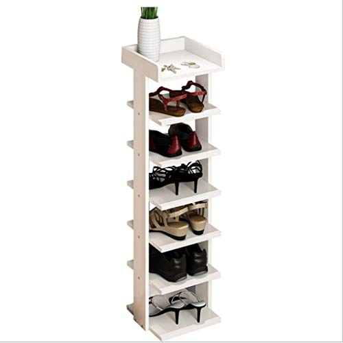 Jixi Zapatera Estante de Zapato de Madera de múltiples Capas Minimalista Moderno, gabinete económico del Zapato de Madera sólida Estante para Zapatos