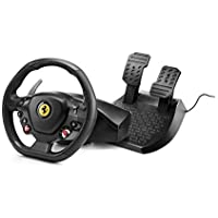 Thrustmaster - T80 RW FERRARI 488 GTB - Volante para PS4 / PC - Licencia oficial Ferrari - incluye pedales