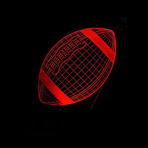 Rugby Fußball Sporting 3D Lampe Multicolor Led Nachtlicht Booter Weihnachtsgeschenk Illusion Base Tisch Schreibtischbeleuchtung Dekorieren Mit Fernbedienung