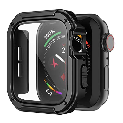 Recoppa Rugged Apple Watch Case 44mm Series SE 6/5/4 with Screen Protector,...