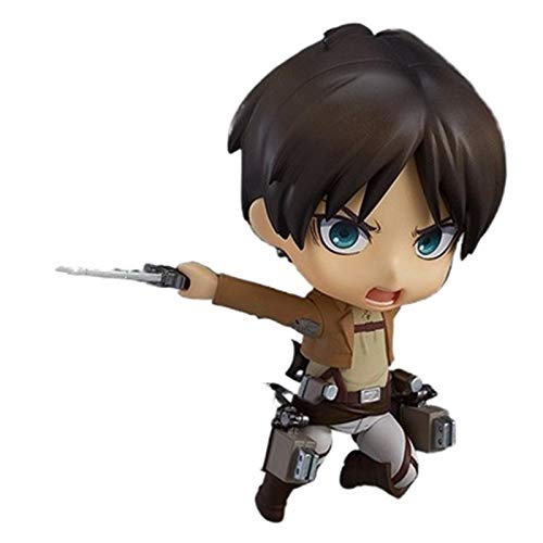 Attack On Titan Anime Figure 10Cm,Figurine Nendoroid Eren Jaeger Face Change Collectible Model Toy Gifts Niños Pet Kawaii Mini Desktop Pop